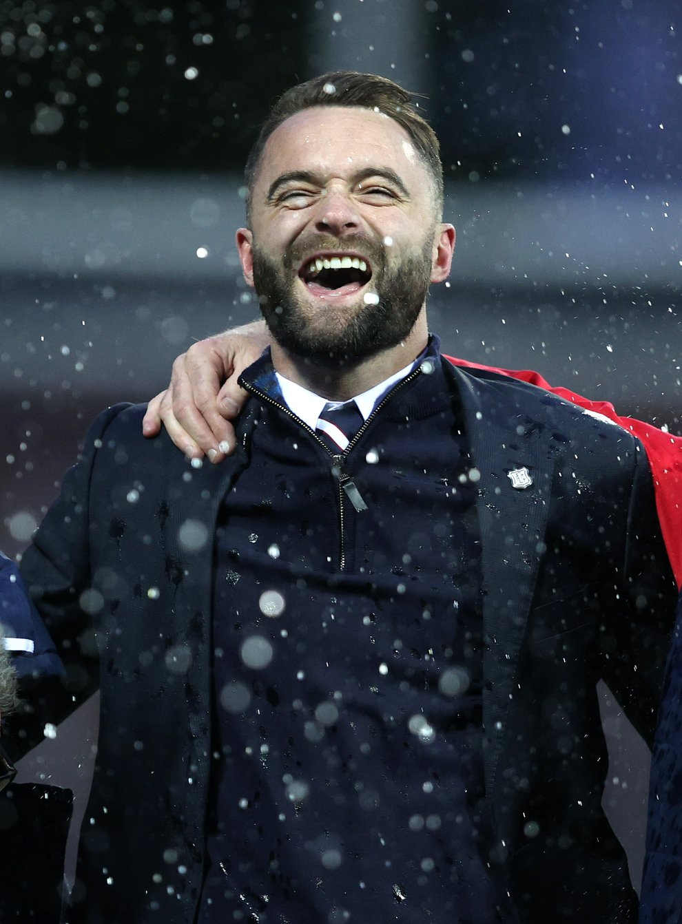 Dundee manager James McPake is celebrating a new contract