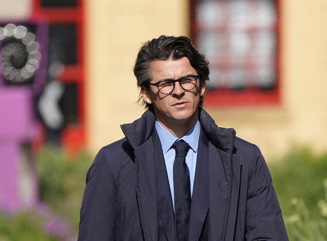 Joey Barton arriving at Sheffield Crown Court where he is charged with causing actual bodily harm to the then Barnsley manager Daniel Stendel in April 2019