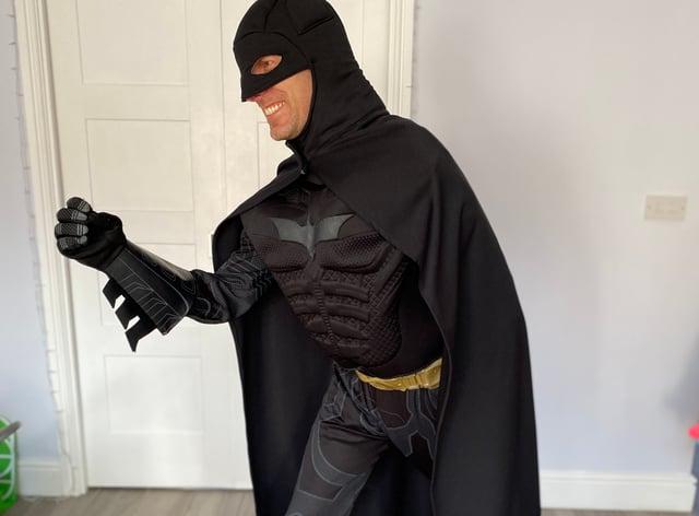 Nick Jemetta dressed as Batman