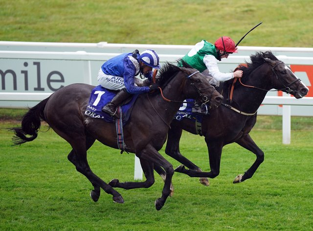 Pyledriver (far side) edges out Al Aasy to win the Coral Coronation Cup