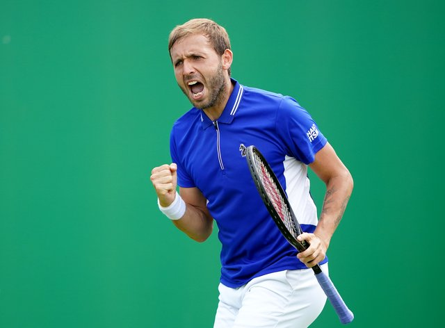 Dan Evans was in action in Nottingham, having lost in the first round of the French Open last week