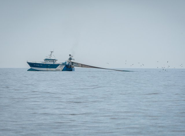 Fishing vessel in the English Channel