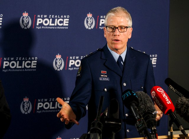 <p>Detective Superintendent Greg Williams addresses the media on Operation Trojan at the Auckland Central Police headquarters in New Zealand</p>