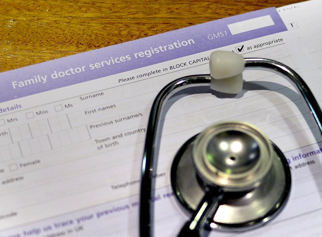 GP form and a stethoscope