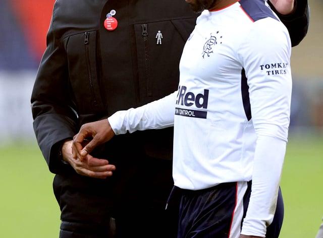 Jermain Defoe (right) embraces Steven Gerrard