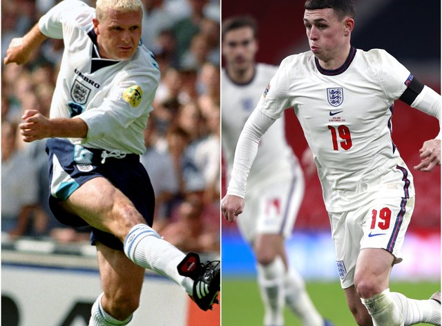 Phil Foden has been compared to Paul Gascoigne ahead of England's Euro 2020 campaign.