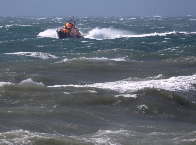 a lifeboat at sea