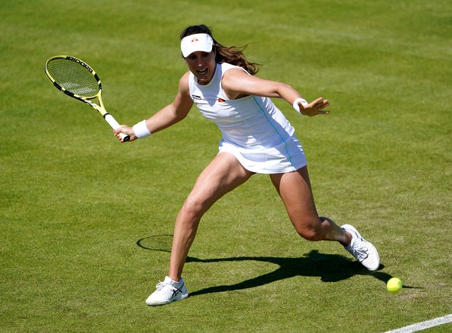 Johanna Konta need not take long to win her second-round match at the Viking Open in Nottingham