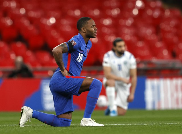 Raheem Sterling is disappointed that some England fans have not understood why players are taking the knee