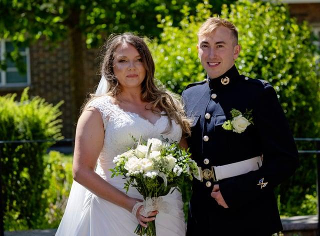 Lance Corporal Jake Kennedy and Petty Officer Naval Nurse (QARNNS) Jo Parke at St Ann's Church