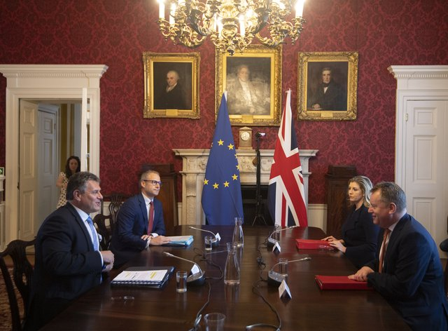 Brexit talks in Admiralty House