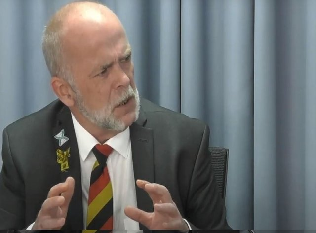 Bruce Norval gives evidence to the inquiry