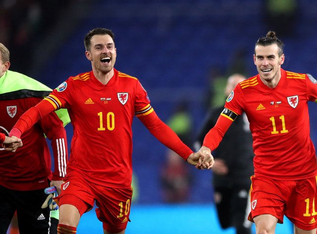 Aaron Ramsey (left) and Gareth Bale (right) are set to play key roles again for Wales