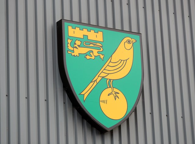 The Norwich crest at Carrow Road