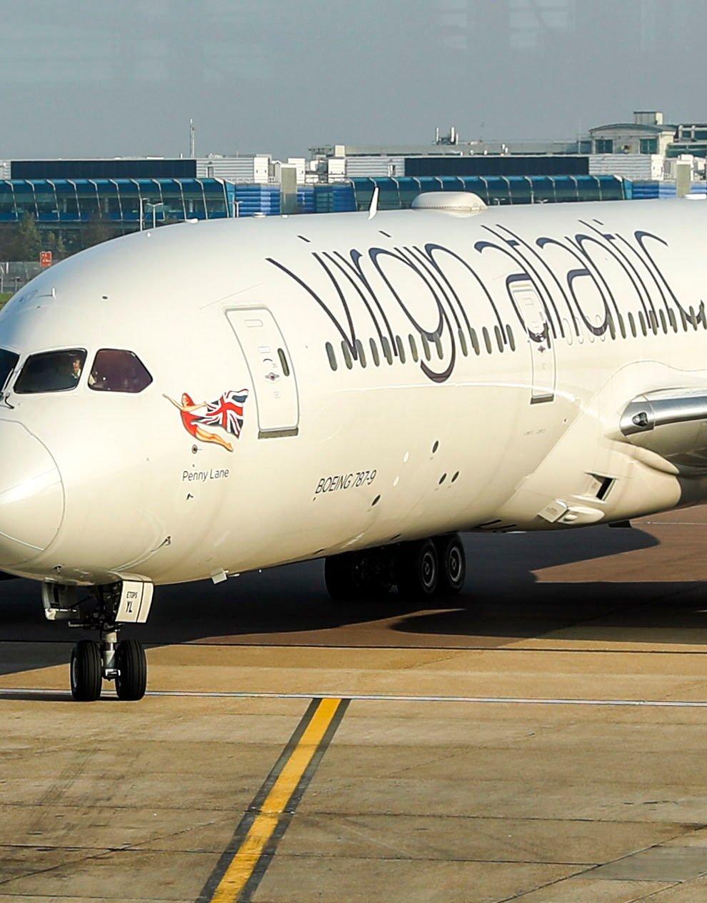 A Virgin Atlantic plane