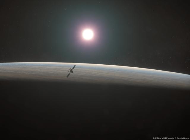 Artist impression of ESA's EnVision mission at Venus