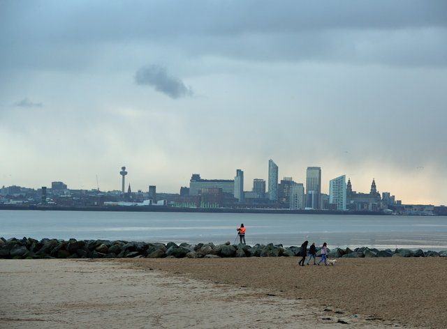 Liverpool viewed from New Brighton (Peter Byrne/PA)