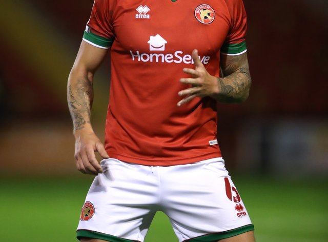 Dan Scarr in action for Walsall