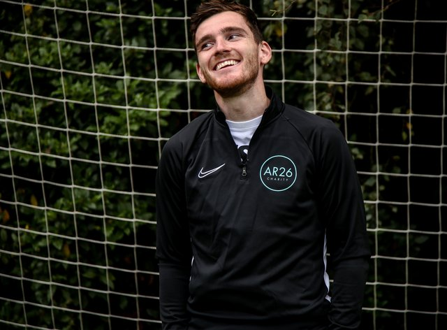 Andy Robertson AR26 charity launch