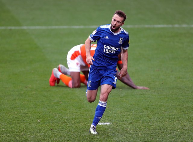 Gwion Edwards in action for Ipswich