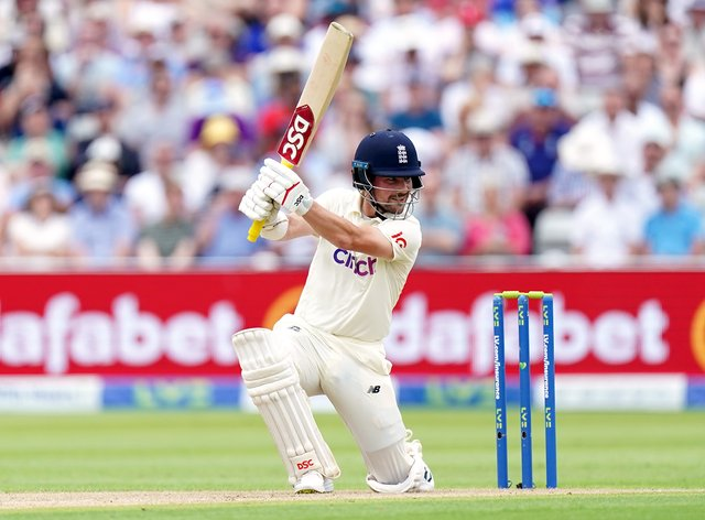 England's Rory Burns on his way to 81 against New Zealand