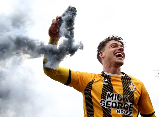 Luke Hannant celebrates