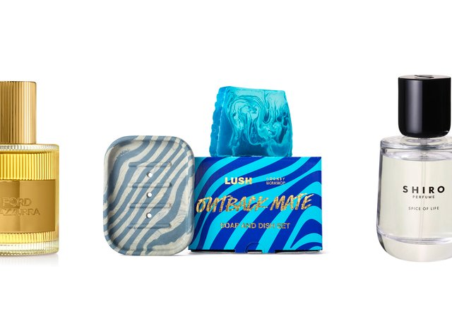 Tom Ford Costa Azzurra; Lush Outback Mate Soap & Dish Set; Shiro Perfume Spice of Life