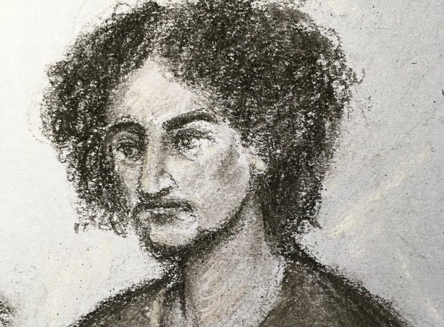 Artist's impression of Danyal Hussein
