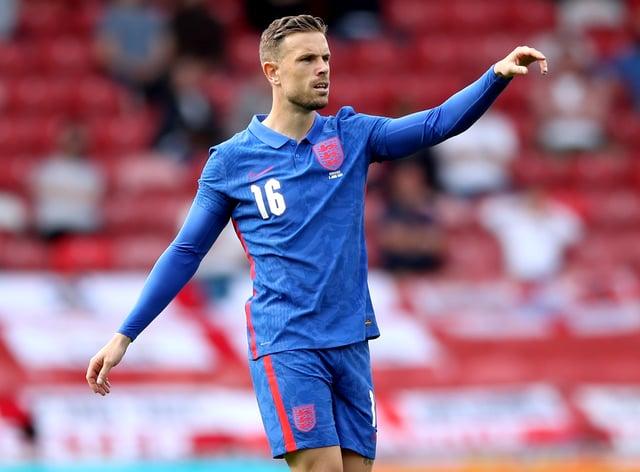 Jordan Henderson playing for England