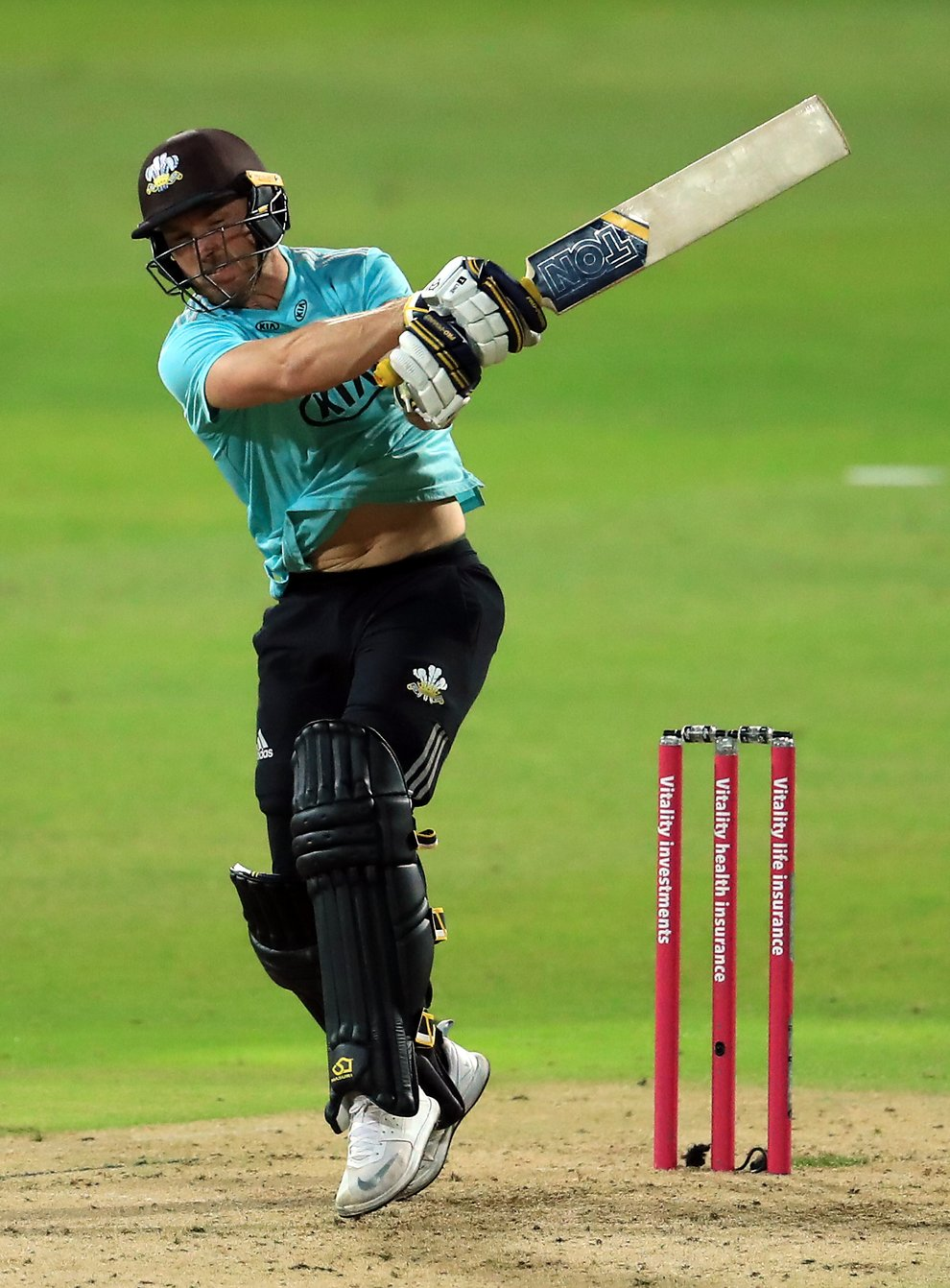 Laurie Evans in action for Surrey