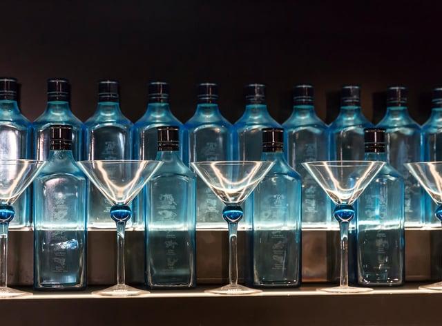 <p>gin bottles</p>