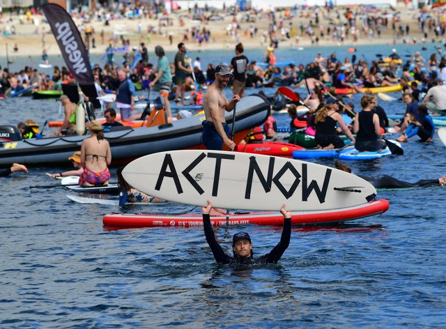 Surfers Against Sewage protesters