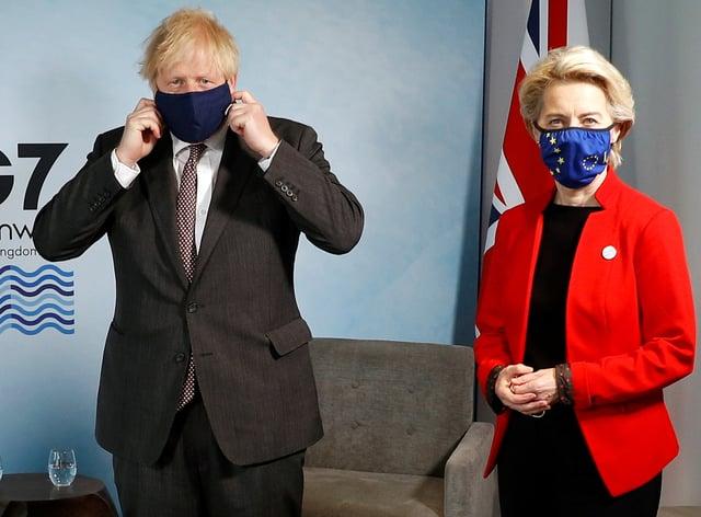 Prime Minister Boris Johnson with European Commission president Ursula von der Leyen