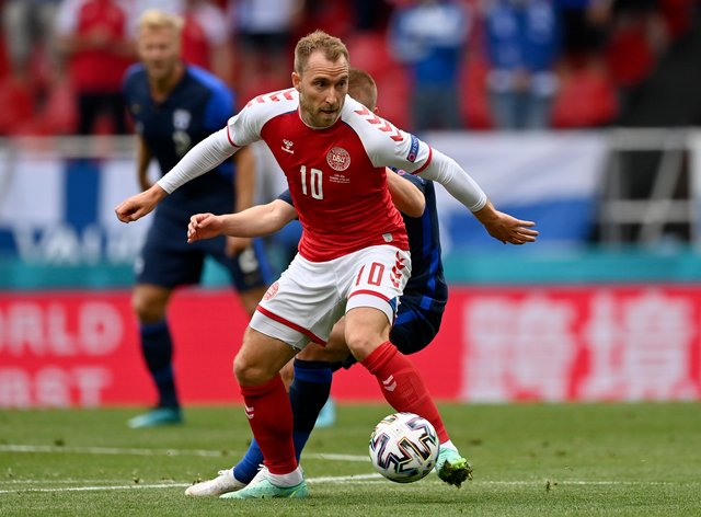 Denmark's Christian Eriksen collapsed during his side's Euro 2020 match with Finland