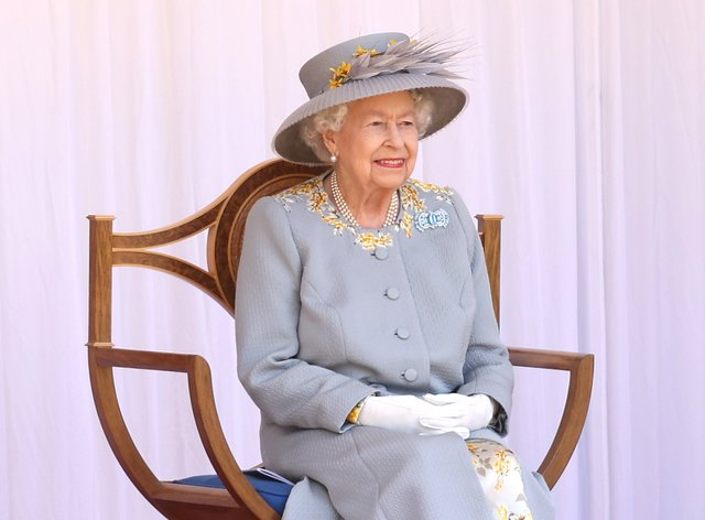 The Queen during a military parade to mark her official birthday at Windsor Castle (PA)
