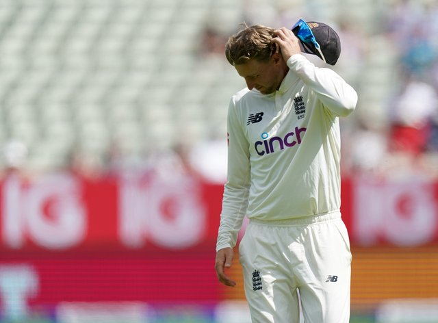 A dejected Joe Root saw England lose