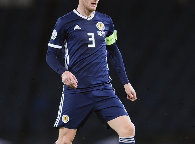 Andy Robertson will lead Scotland out at Hampden on Monday