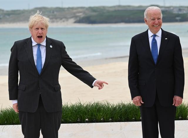 Boris Johnson with US President Joe Biden