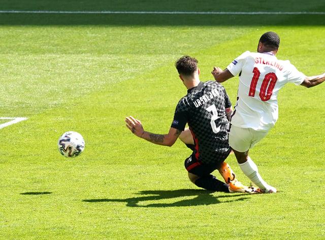 England's Raheem Sterling scored the winner against Croatia