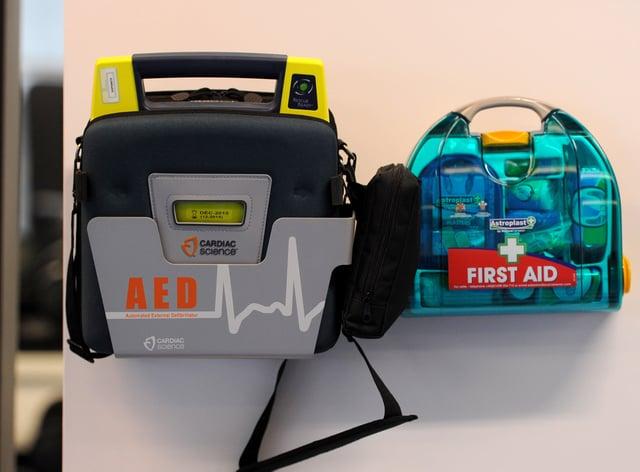 A defibrillator kit