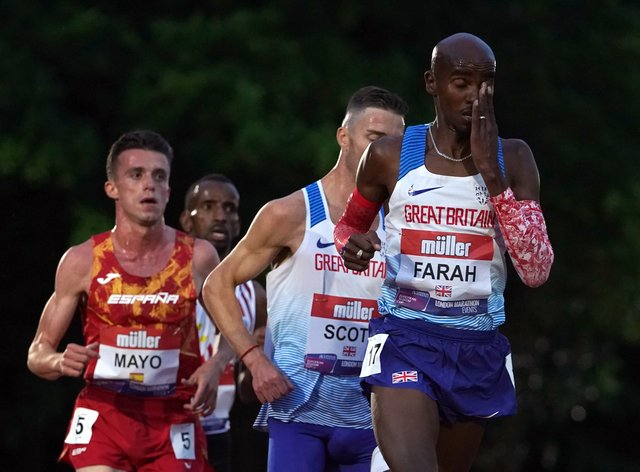 Great Britain's Sir Mo Farah is aiming to qualify for the Olympics.