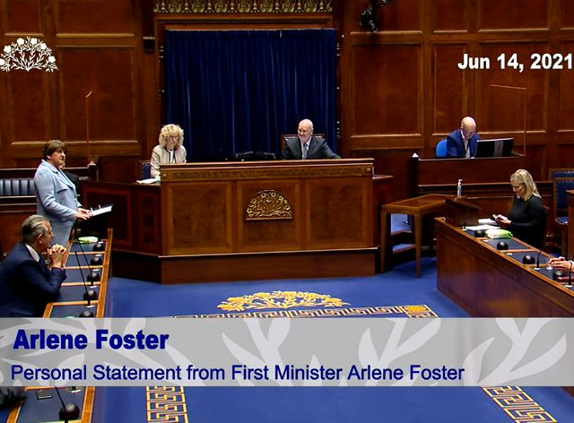 Arlene Foster resigns