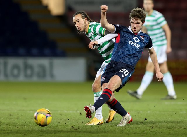 Ross County's Blair Spittal, right, is excited for the future after signing a new deal at the club