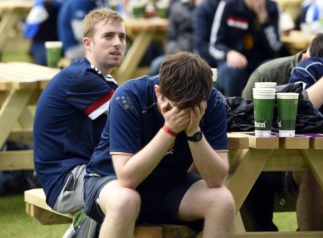 Fans watching Scotland v Czech Republic