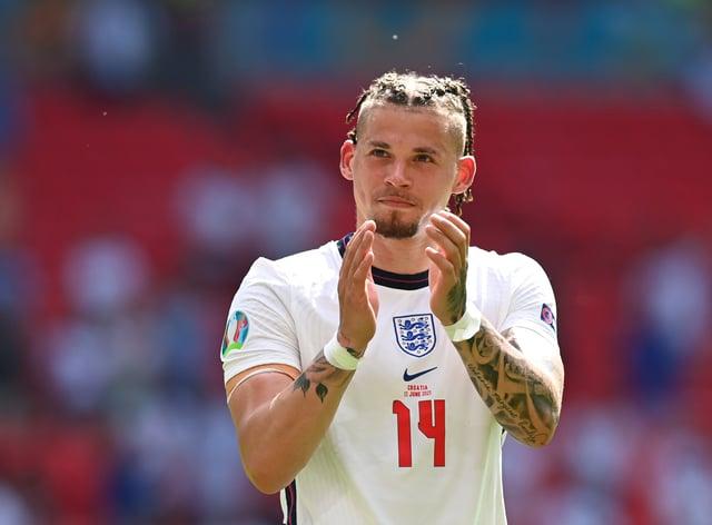 England's Kalvin Phillips applauds fans