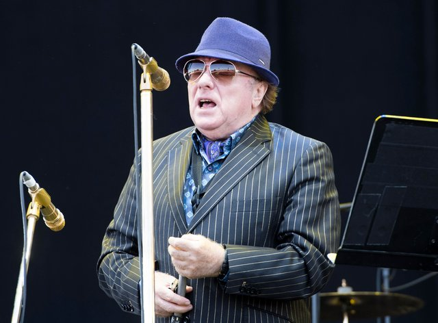 Van Morrison performs on stage during the 2018 Isle of Wight festival