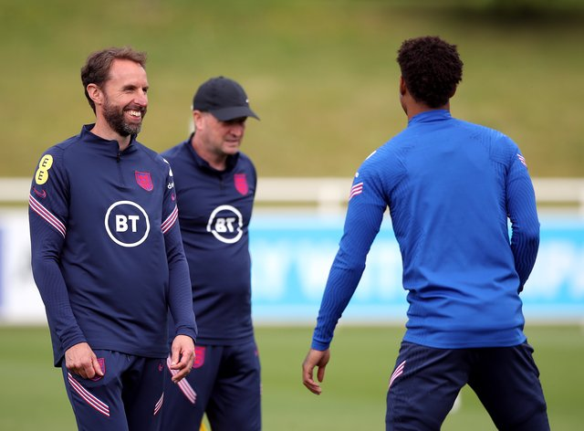 England manager Gareth Southgate (left) is preparing his squad for Friday's clash with Scotland