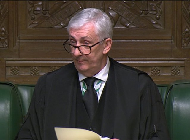 <p>Sir Lindsay Hoyle delivered a second slap down for the Prime Minister</p>