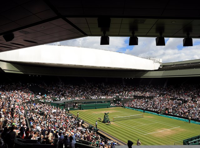Wimbledon's Centre Court is set to be full for next month's men's and women's singles finals