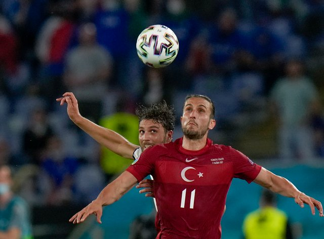 Turkey in action at Euro 2020
